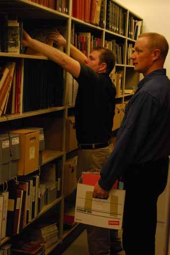 PPCLI Museum & Archives, Archivist Sgt Goulet and MCpl Verrall hard at work in the archives.