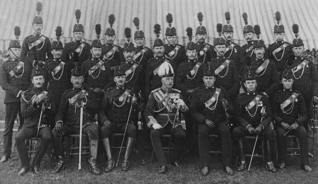 The Duke of Connaught visited his Regiment, the DCORs, shortly after taking office as the Governor General of Canada in 1912.