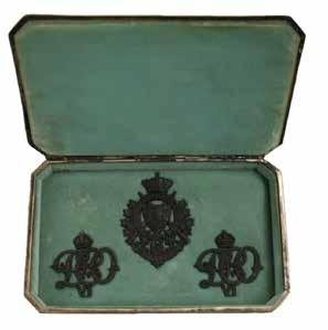 Regimental Insignia belonging to the Duke of Connaught, returned to The British Columbia Regiment by his daughter, Lady Patricia Ramsay, upon the Duke s death in 1942 under cover of the accompanying
