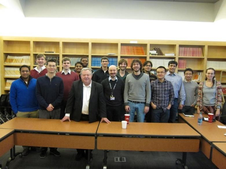 Chapter Activities Seminars: Our chapter took advantage of the thriving optics/photonics research environment at Purdue University and organized a number of seminars and luncheons with visiting