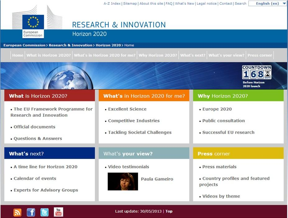 Horizon 2020: official website http://ec.europa.