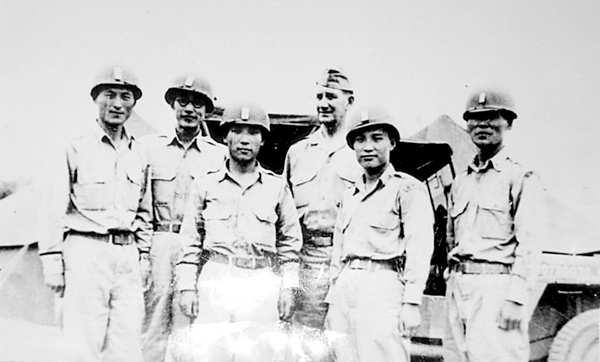146 Chapter 2 Fig. 2.7b General William Lynn Roberts with South Korean officers in May 1948. The photograph was published in the Jeju Weekly (issue of 31 May 2010). The caption says: US Gen.