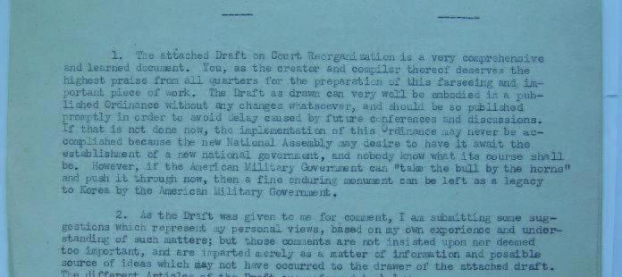 Albert Lyman (who was probably a senior adviser at the Department of Justice of the MG) replied on 10 April 1948.