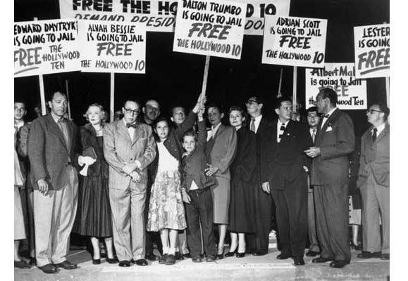 In 1947, numerous Hollywood writers & executives were investigated by HUAC; 500 were