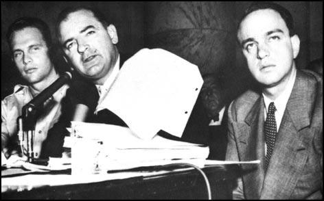 In 1950, Wisconsin Senator Joseph McCarthy emerged as the leader of the anti-communist Red