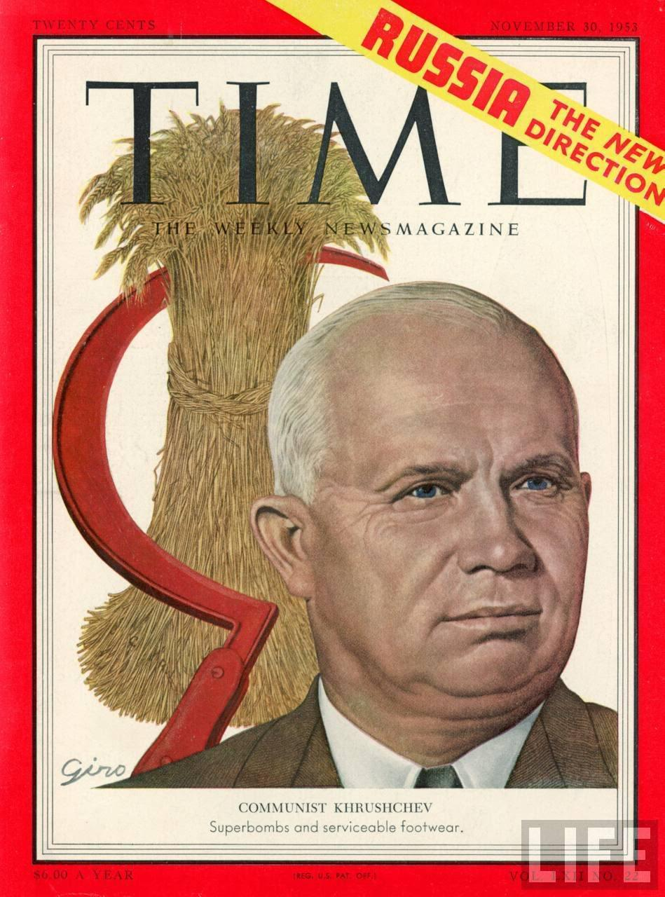 Nikita Khrushchev took over and began to