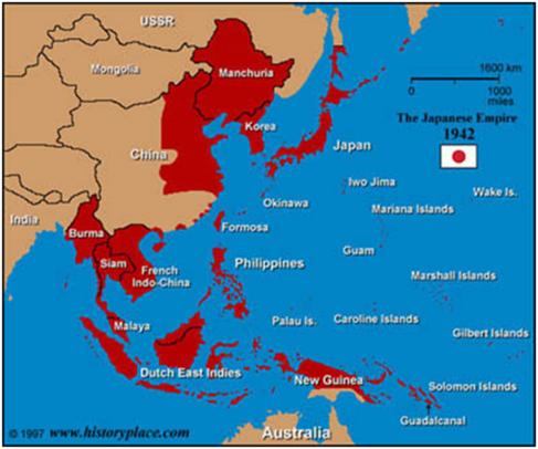! The Empire of Japan The Japanese moved quickly throughout the Pacific after the bombing of Pearl Harbor taking over Guam, Wake Island, Hong Kong, the Philippines, the Dutch East Indies, and Burma.