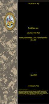 forces and capabilities Developing Army Space, High Altitude, and Missile Defense Concepts and Doctrine