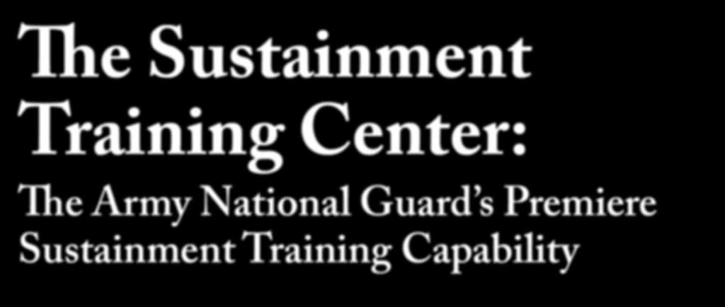 s Premiere Sustainment Training