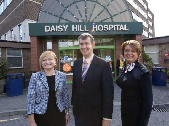 Daisy Hill Hospital Profile Mairead McAlinden, Southern Trust Chief Executive, and Chair Roberta Brownlee welcome Health Minister Edwin Poots on a recent visit to Daisy Hill Hospital Daisy Hill
