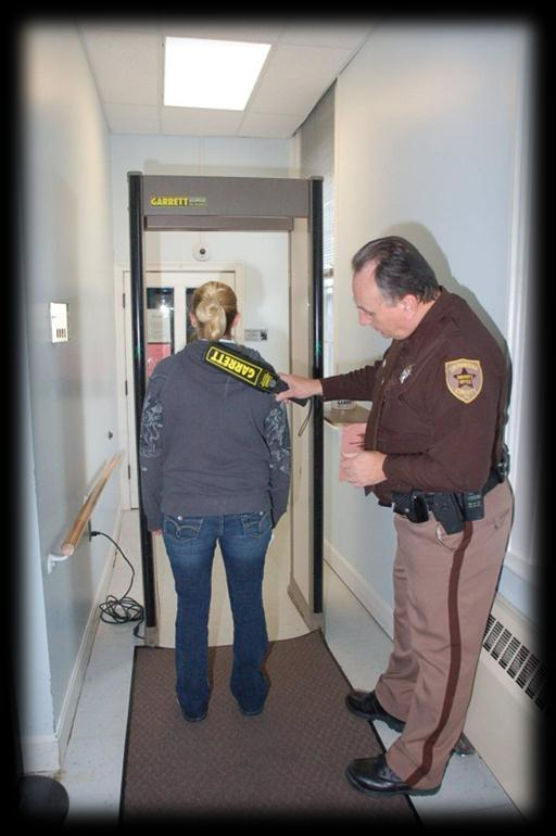 In 2011, the Sheriff s Office screened over 85,000 persons entering these courtrooms.