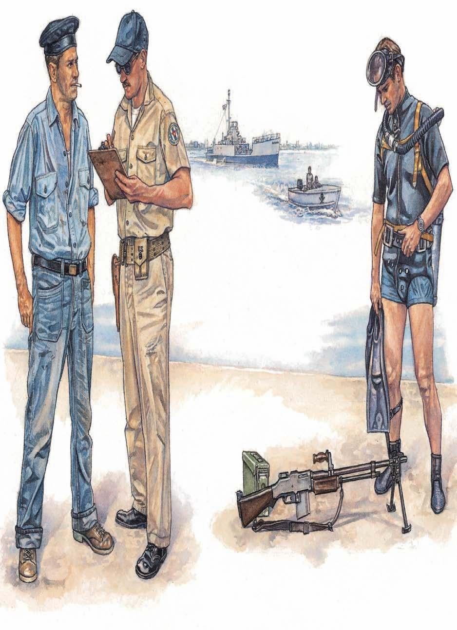 1 2 3 BRIGADE MARITIME ELEMENTS 1: Seaman, fatigue dress