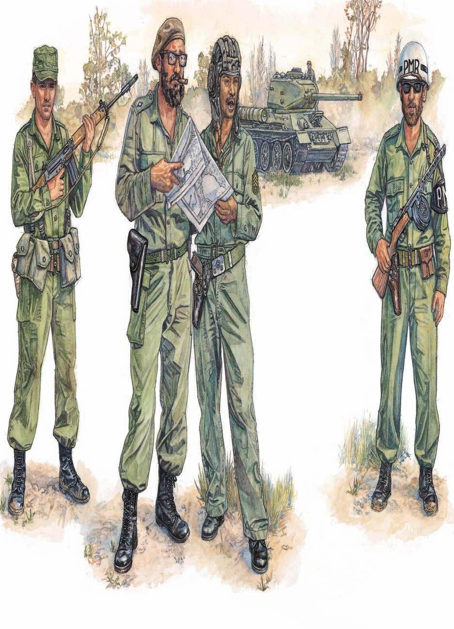 1 2 3 4 CUBAN REVOLUTIONARY ARMED FORCES 1: Infantry private 2: Comandante