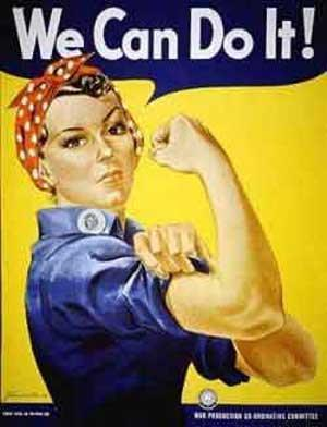 World War II- The Homefront Rosie the Riveter inspired many women to