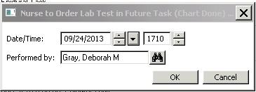 To Chart Tasks: 1. On Tracking Shell double click on task icon to open task list. 2. Check box for desired task. 3.