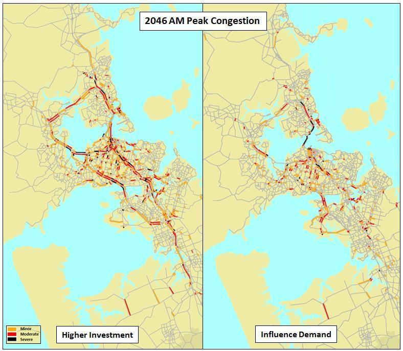 Most of this change results from a combination of reduced trip lengths and a shift to public transport in response to the increased cost of car travel.