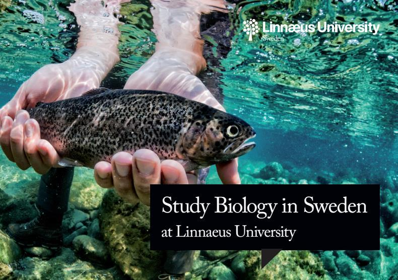 New agreements Kalmar (Sweden) English-taught courses in winter Freshwater Ecology Fish Ecology Marine Ecology Research project in summer possible For Bachelor and Master students Åbo (Swedish