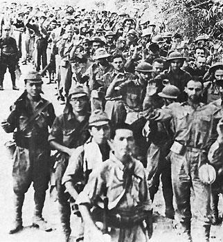 Bataan Death March The Bataan Death March was the forcible 60 mile transfer of 90,000 to 100,000 American and Filipino prisoners of war on foot by the Japanese army.
