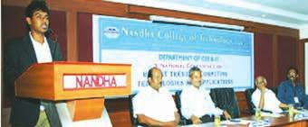 Conference on Emerging Trends in Information & Computer Science 15 Nandha