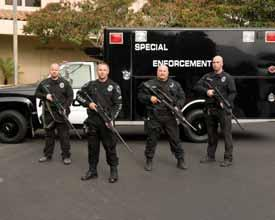 SPECIAL ENFORCEMENT TEAM K-9 UNIT The Special Enforcement Team (S.E.T.) is composed of 13 members who have received extensive training in the use of Special Weapons and Tactics (S.W.A.T.). These officers serve the citizens of Lompoc by safely diffusing violent or potentially violent situations.