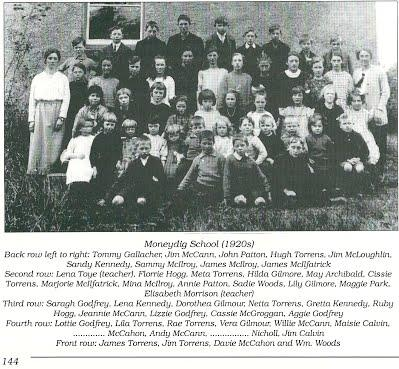 [Moneydig National School (1920's) - Photo courtesy of James McIlfatrick, 'The