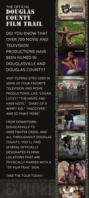 The Official Douglas County Film Trail now open! Wednesday, January 3 - Tuesday, January 1: You are invited to take the Official Douglas County Film Trail Tour.