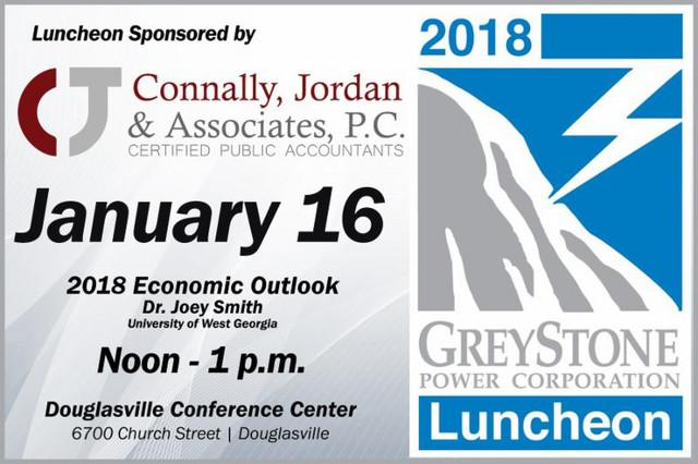 GreyStone Power Luncheon Tuesday, January 16, 12:00 p.m.: GreyStone Power Luncheon is happening on January 16th from 12noon - 1 pm. Dr.