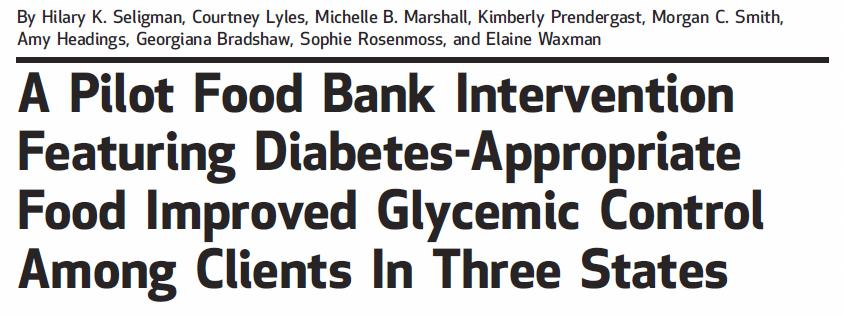 Goal Feasibility of a 4-component diabetes intervention implemented at 3 FB s Point-of-care testing for diabetes Active referral to primary