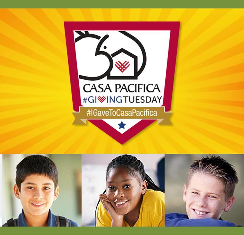 Casa Pacifica Giving Tuesday