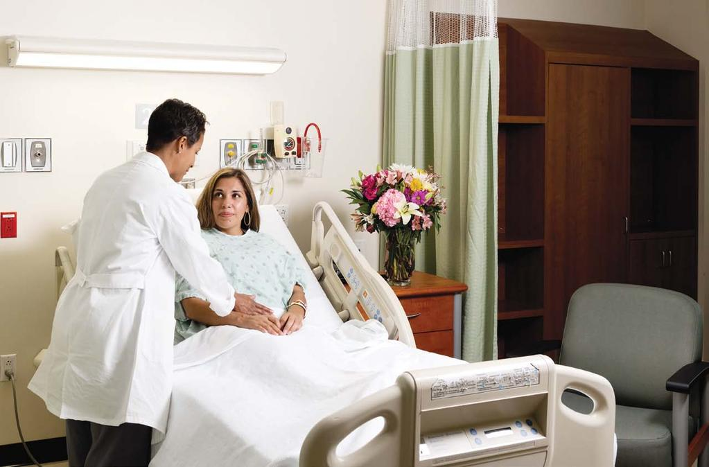 Semi-private rooms, enhanced patient experience Conversion