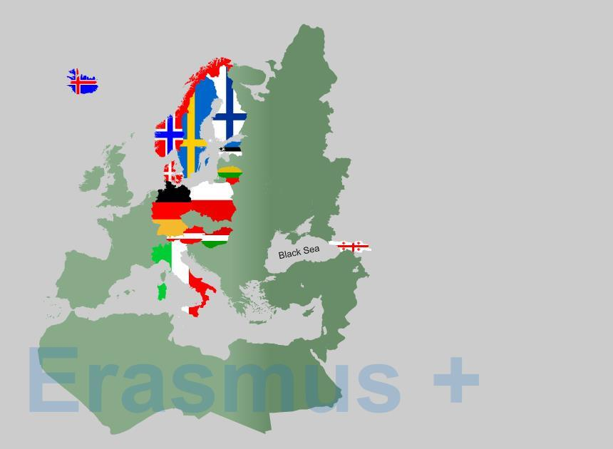 TSC s Erasmus + map - TSC joined Erasmus Family in 2015-12 Program countries throughout the EU - 14 Erasmus ICM partners What