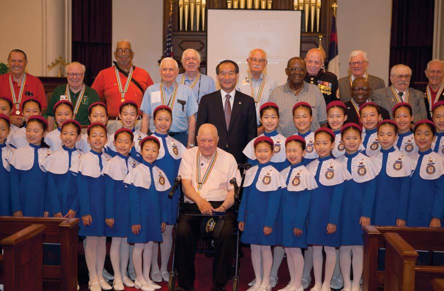 Visiting the Armed Forces Retirement Home troupe from Korea and a very sincere Thank you film produced by the Republic of Korea specifically for Korean War veterans.