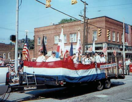 Parade and Jack Balser for the 4th of July Parade. George Piggott, 3720 Root Ave. N.