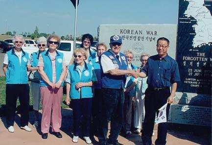 Reverend Jeong Kiyoung, who was a force in raising funds used to help pay for the memorial, represented the Lawton Korean community.