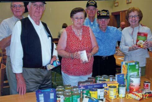 121 TWIN CITIES [TX] Hero s Pantry Chapter members, in concert with their Auxiliary, recently donated nonperishable food items to the Hero s Pantry, an organization that provides food and personal