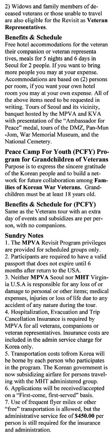 Last Call All of us in the Korean War Veterans Association extend our sincere sympathy to the families and friends of those listed below. May they rest in peace. ARIZONA JOHN R.
