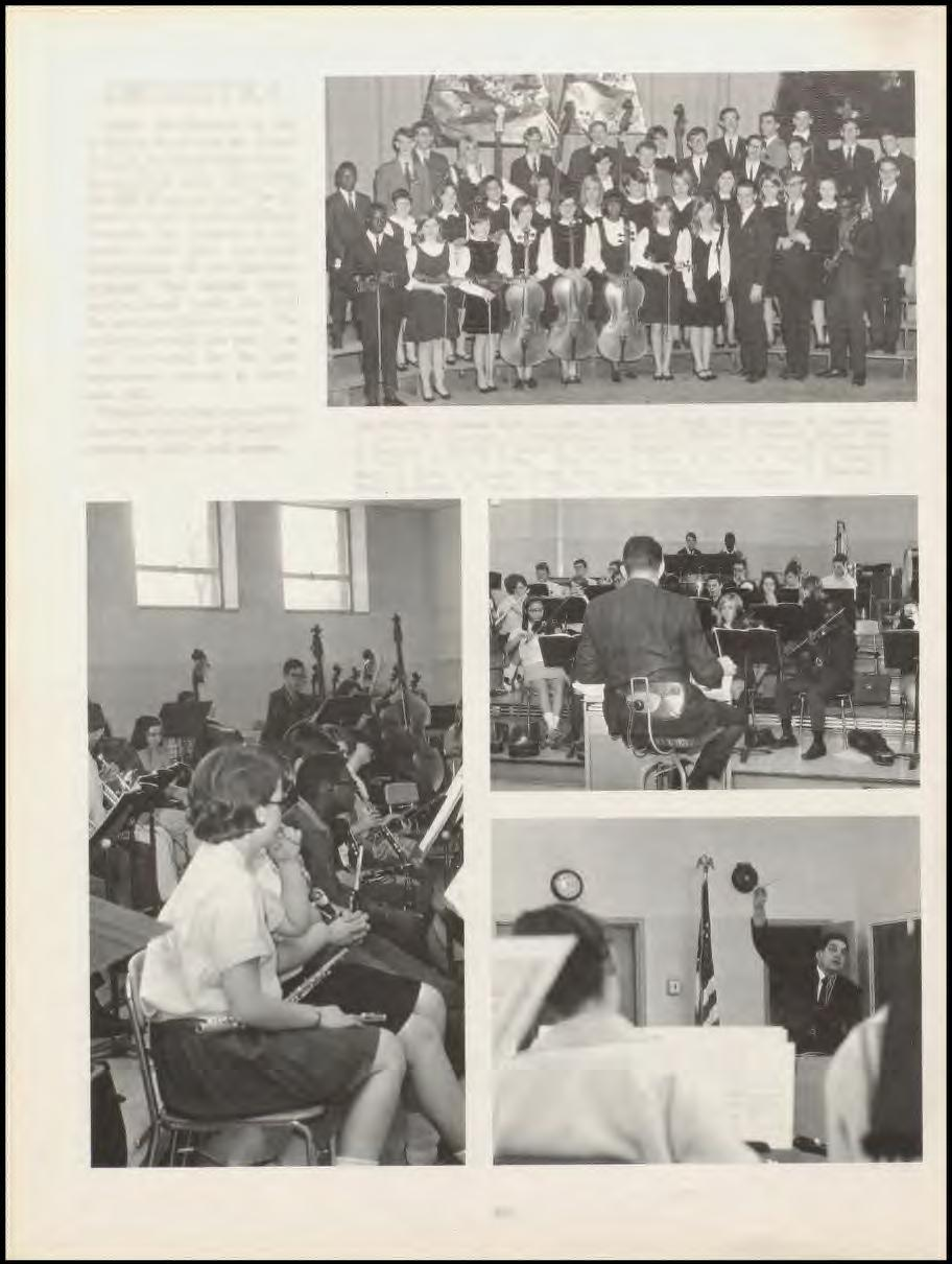 ORCHESTRA Under the direction of Mr.. Robert Fraser and ~Ir. Joseph Riccardi, the lurn High Orchestra undertook many ta ks during the 1967-6 chool year.
