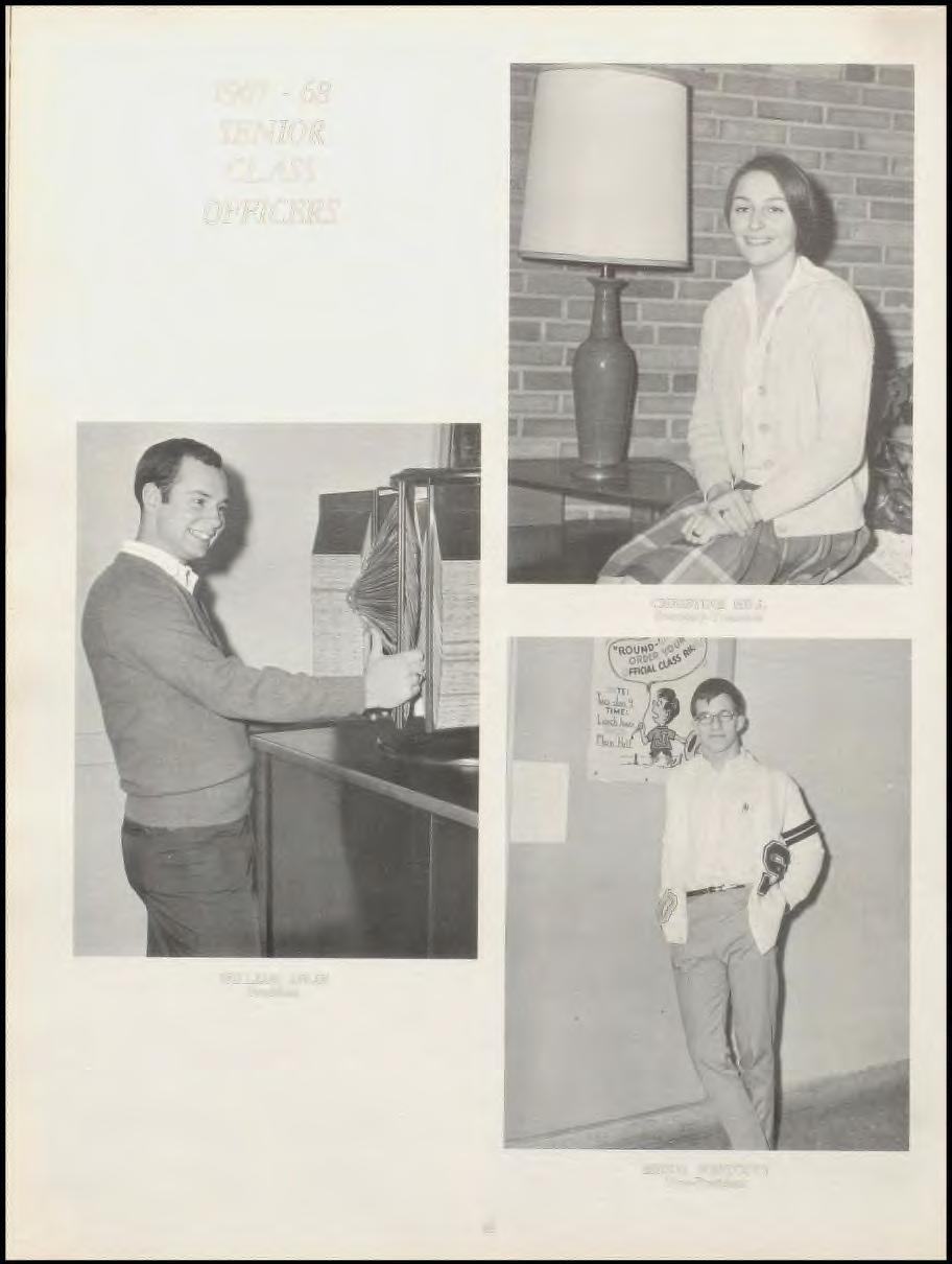1967-68 SENIOR CLASS OFFICERS CHRISTINE HILL