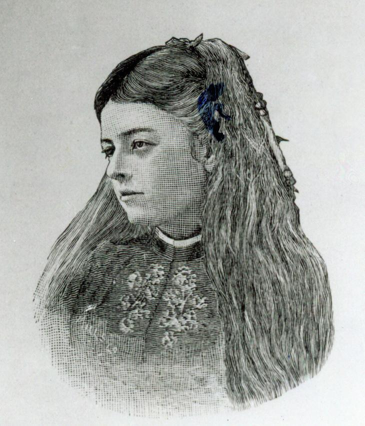 FLORENCE EDWARDS HASKELL She is pictured at age twelve in the year 1871.