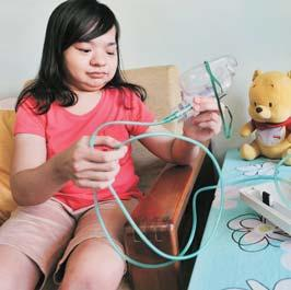""" Born with osteochondral dysplasia, Pearl Lee, 22, has a severely curved spine, bow legs and a restrictive airway disease, all results of the condition."