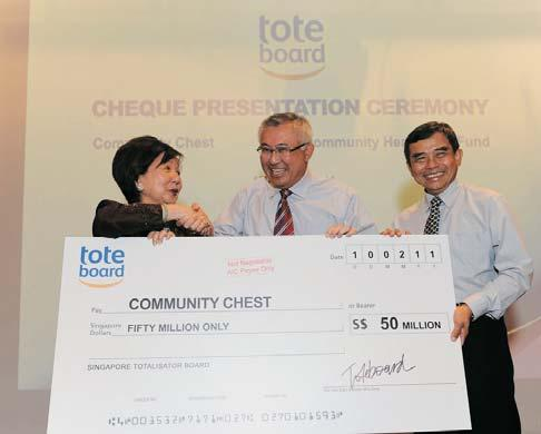 lives within the community. Mr Tan Kian Chew Director, NTUC FairPrice Foundation Community Chest Met Target of $55.2m Community Chest met its fund-raising target of $55.