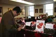 Many of the valentines originated at the Command Quarterdeck where a basket of cards and writing tools were available.