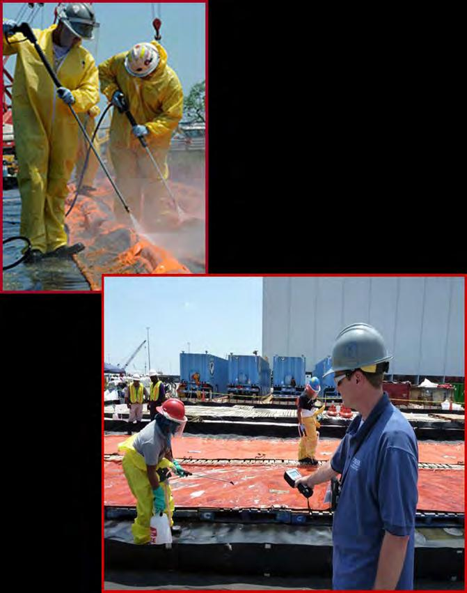 Deepwater Horizon Oil Spill Response Heat Stress Heat Stress. Heat stress was one of the most serious health hazards facing cleanup workers during the operations.