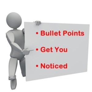 Sections on a Résumé Professional Experience Each bullet point or statement should tell the reader both what you did and why it was important to the overall contribution and success of the project,
