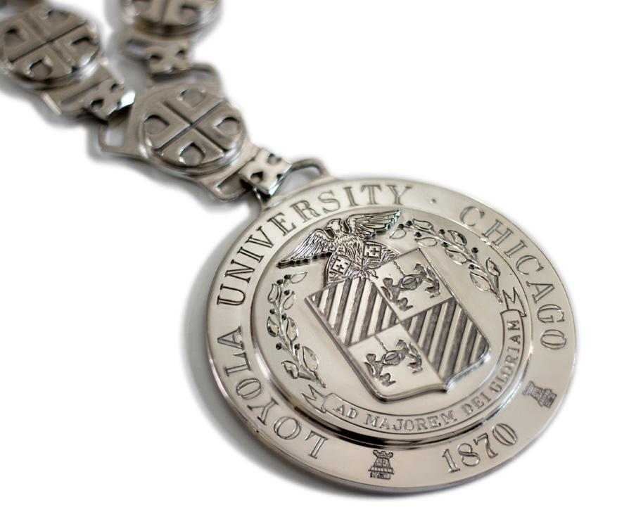COMMON COLORS IN THE ACADEMIC COSTUME CODE ARTS WHITE THE CHAIN of OFFICE AS THE OFFICIAL SYMBOL of the Office of the President of Loyola University Chicago, the Chain of Office was conferred for the