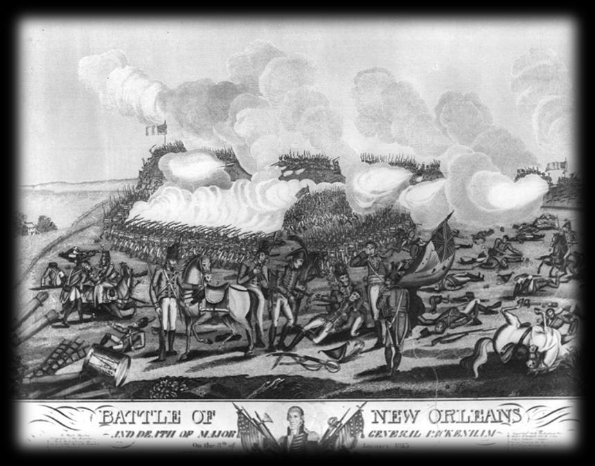 Events in the War of 1812: Battle of New Orleans Jan. 8, 1815 A British fleet of more than 50 ships prepared to attack New Orleans.