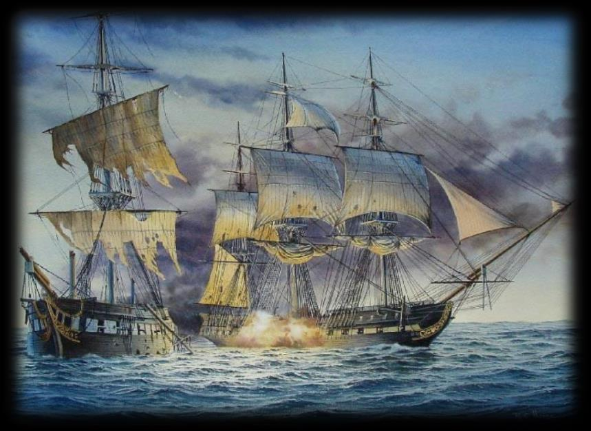 Events in the War of 1812: Constitution Old Ironsides vs. Guerriere U.S.S. Constitution outgunned and was faster than any other ship.
