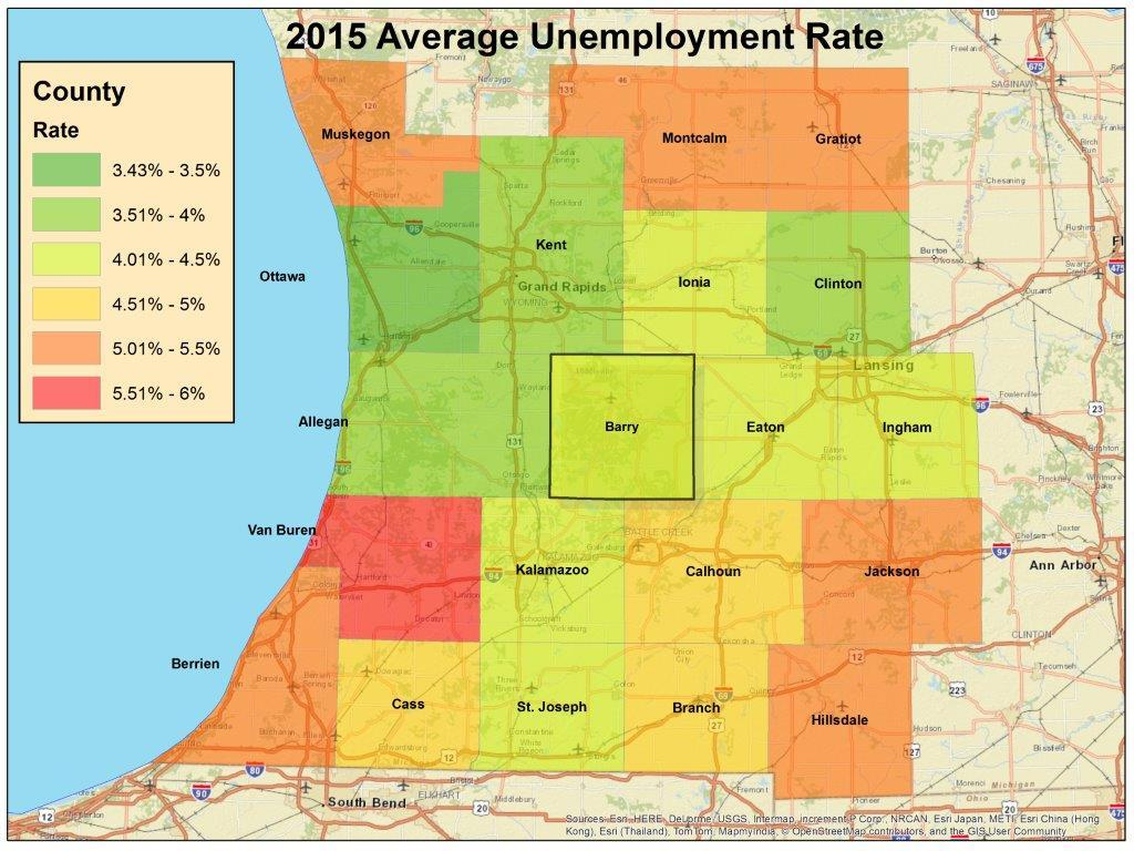Labor markets are tight: Barry County is just over 4% with the U.S. at 4.
