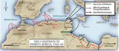 Britain wanted to attack up from North Africa and through Italy (away from Great Britain) Gen.