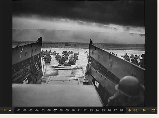 On June 6, 1944, over 160,000 Allied troops landed along the 50-mile stretch of